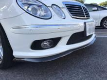 AMG E55Carlsson RSカーボンフロントリップスポイラーの単体画像