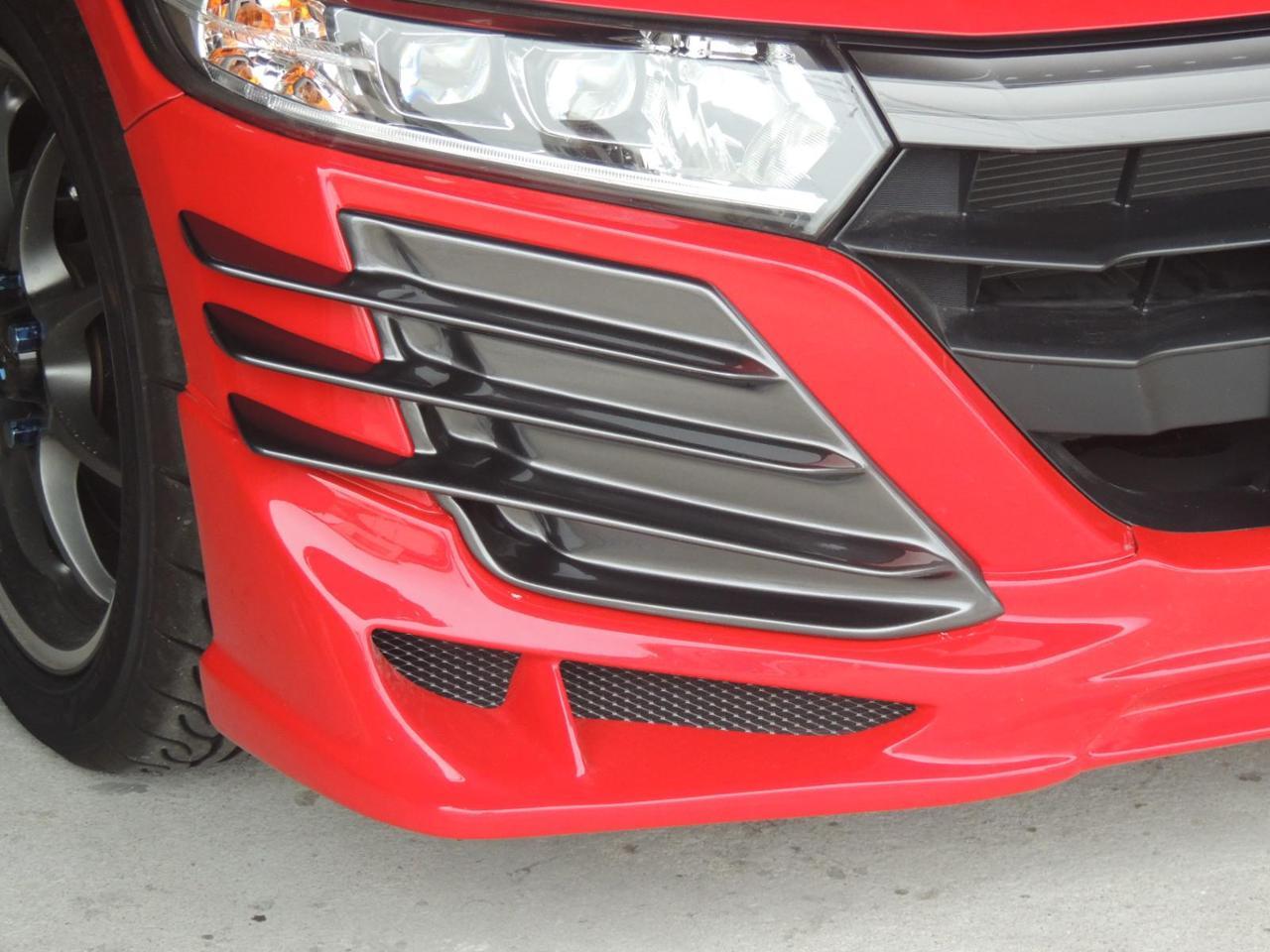 自作 Jmodeフロントハーフ装着車用フロントガーニッシュSタイプ