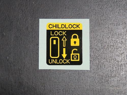 スズキ (純正) チャイルドロック・コーションラベル