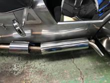 スーパースプリント1700TG  craft 触媒付き車検対応マフラーの全体画像