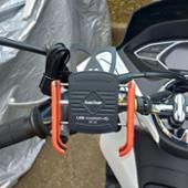 Kaedear(カエディア) USBチャージャーホルダー(赤) 急速充電対応(QC3.0規格)