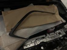 カローラスポーツハイブリッドトヨタ(純正) バンパーガーニッシュ ガンメタリック塗装の単体画像