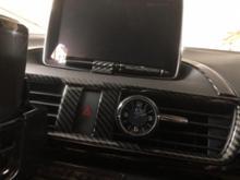 不明 車のクロック装飾クォーツ時計スタイリングデジタル電子時計時計アクセサリーマツダ Angkorra CX-5 Artez