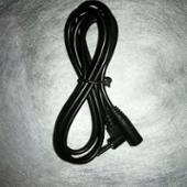 不明 2.5mm 4極 ミニミニプラグ 延長ケーブル L字 ブラック 1m