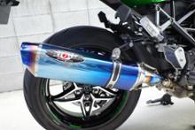 Ninja H2 SX SE +BEET JAPAN NASSERT Evolution TypeⅡスリップオン ブルーチタンの全体画像