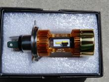 セロー250Street Cat 改良無極性版 H4/HS1 バイク用ledヘッドライト オートバイ 両面発光 12V-24V 60W 5000LM 対応 Hi/Lo切替 M4 冷却ファン内蔵 ゴールドの全体画像