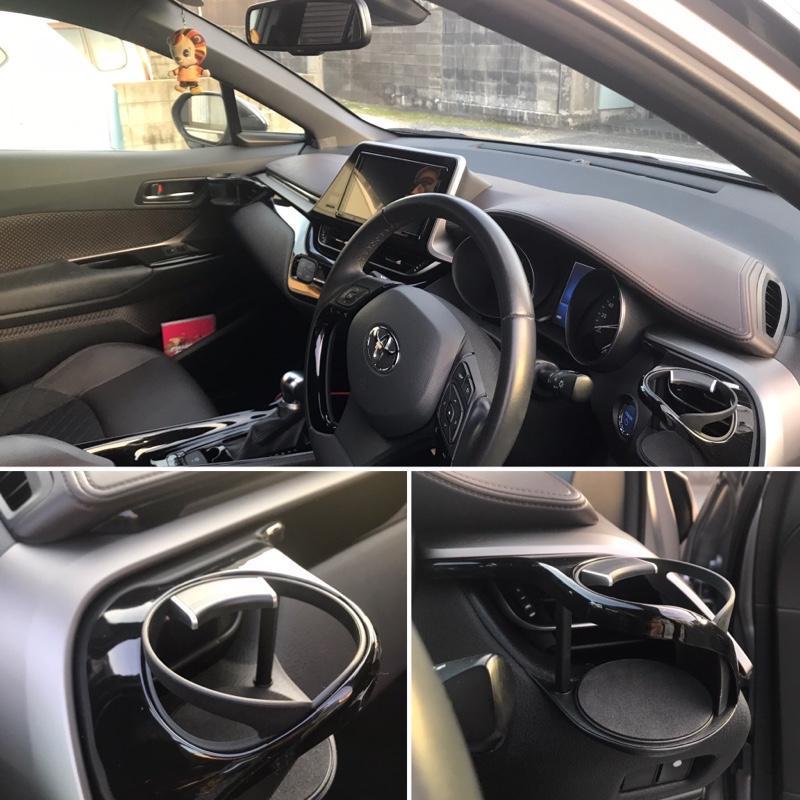 槌屋ヤック トヨタ C-HR専用ドリンクホルダーSY-C1(運転席用AC取付)、SY-C2(助手席用AC取付)