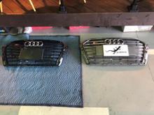 S3(セダン)Audi USグリル ダーククローム×マッドブラックの単体画像