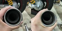 VMX12ワイズギア スリップオンマフラーの全体画像