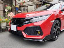 シビック (ハッチバック)ikonmotorsports Type R Style Front Bumper Lipの全体画像