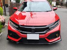 シビック (ハッチバック)ikonmotorsports Type R Style Front Bumper Lipの単体画像