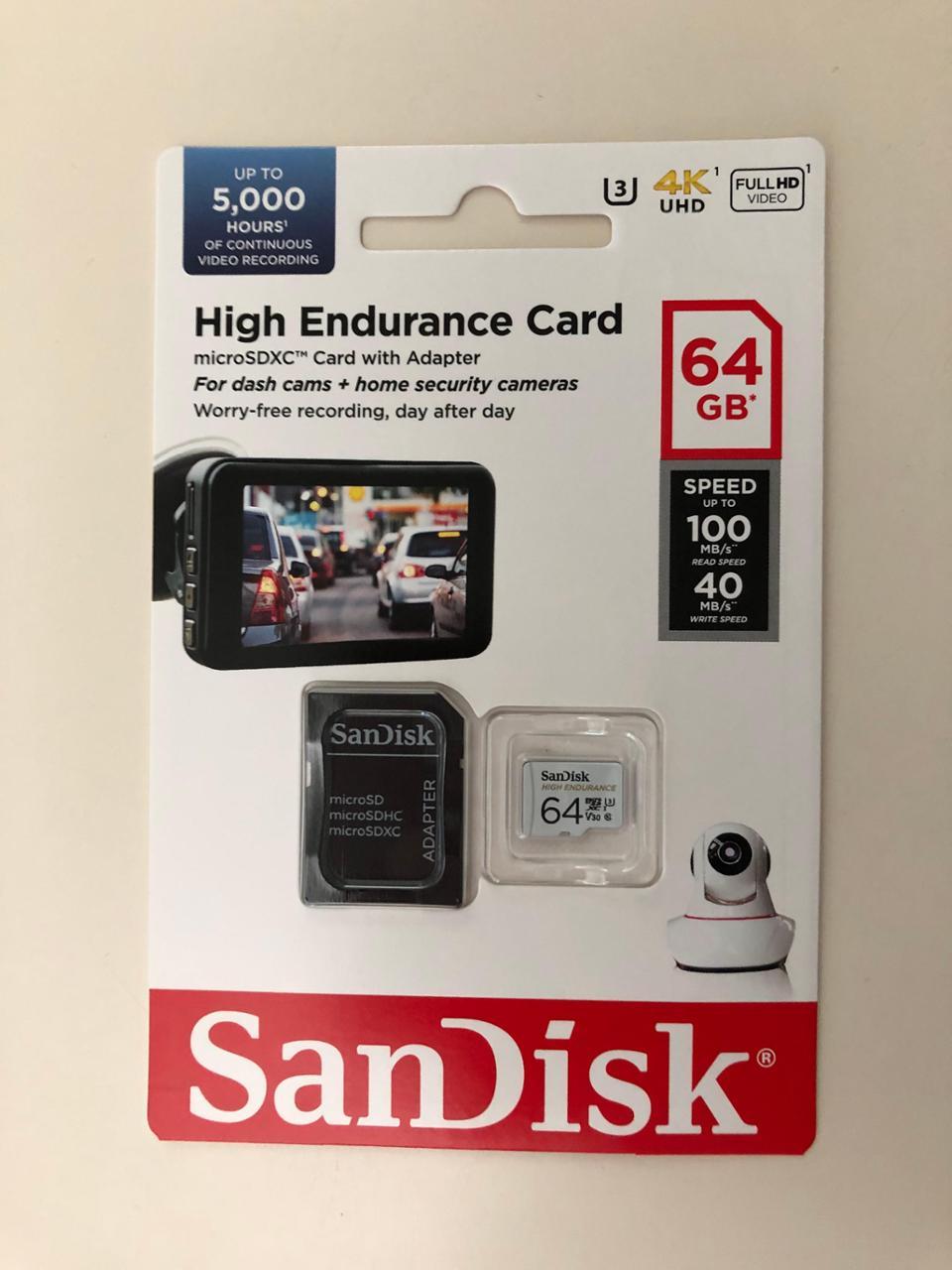 SanDisk 64GB 高耐久 microSDXCカード(SDSQQNR-064G-GN6IA)