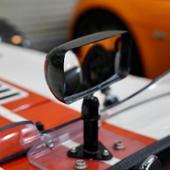 SPA レース センターミラー カーボン・コンベックス ショートステム