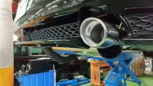 MAZDA3 ファストバックハイブリッドAutoExe Premium Tail Mufflerの単体画像