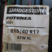 BRIDGESTONE POTENZA S001 215/40R17