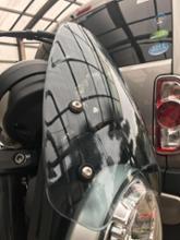 スクランブラーFATExpress FATExpress オートバイ プラスチック フロントガラス カバー 〜と 取付けブラケットの全体画像