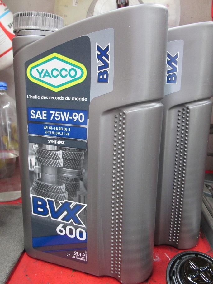 YACCO BVX600 75W-90 GEAR OIL