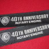 北米マツダ RE 40TH ANNIV刺繍パッチ(フロアマットより剥ぎ取り品)