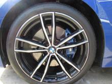 3シリーズ セダンBMW(純正) M ライト・アロイ・ホイール・ダブルスポーク・スタイリング791M バイ・カラー(ジェット・ブラックの単体画像