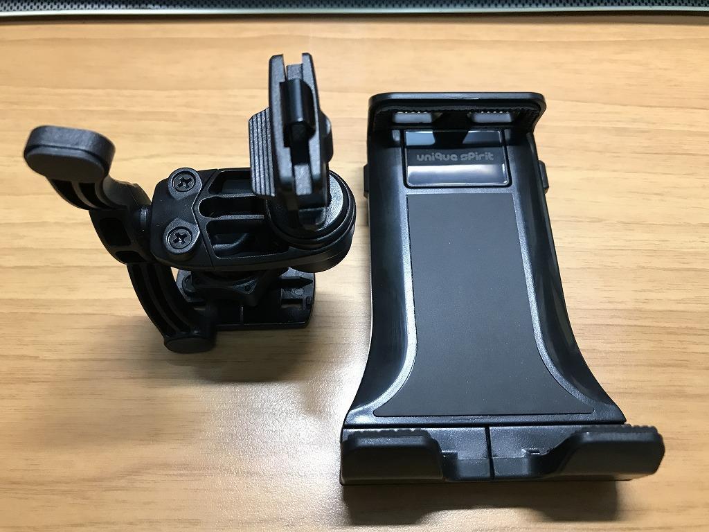 Unique Spirit タブレット スマホ 車載ホルダー エアコン吹き出し口型 360度角度調整可 着脱簡単 落下防止 ナビスタンド (4-10.5インチ対応)