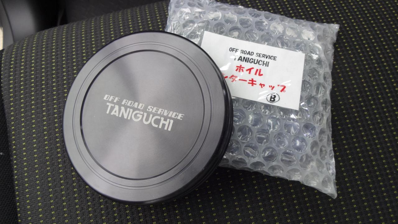 タニグチ タニグチ製 ホイールセンターキャップ ブラックアルマイト