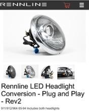 その他RENNLINE LED headlight conversationの単体画像