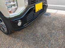 eKクロス三菱自動車(純正) フロントバンパーガーニッシュの全体画像