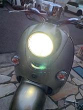 ビーノ デラックス不明 バイク用 H4 LEDヘッドライト 車検対応 HS1 LEDバルブ HI/LO切替 直流交流兼用 6500Kの全体画像