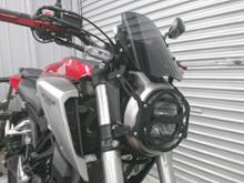 CB125Rメーカー不明 ヘッドライトガードの単体画像