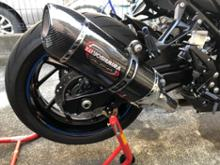 GSX-S750 ABSヨシムラ USヨシムラ Slip-On ALPHAサイクロンの単体画像