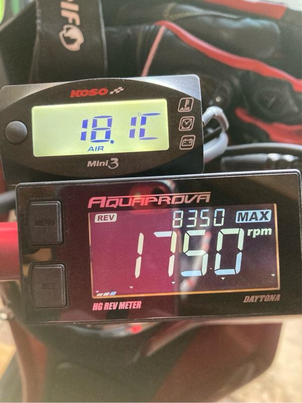 KOSO 電圧計 外気温計
