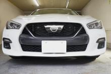 スカイラインAXIS-PARTS GT-DRYカーボン フロントグリルカバーの全体画像