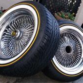 Dayton wirewheels / VOGUE TYRES 17インチ100spワイヤーホイール / カスタムビルドラジアルⅧ235/55R17