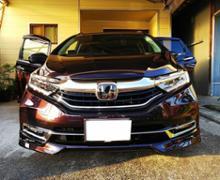 シャトルハイブリッドModulo / Honda Access ロアスカート フロントの全体画像