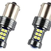 Futwod S25 LED シングル バルブ ホワイトP21W CANBUS キャンセラー内蔵