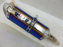 GSR750ABSヨシムラ Slip-On R-77Jサイクロン EXPORT SPEC STBS (チタンブルーカバー/ステンレスエンドタイプ)110-158-5V80Bの全体画像