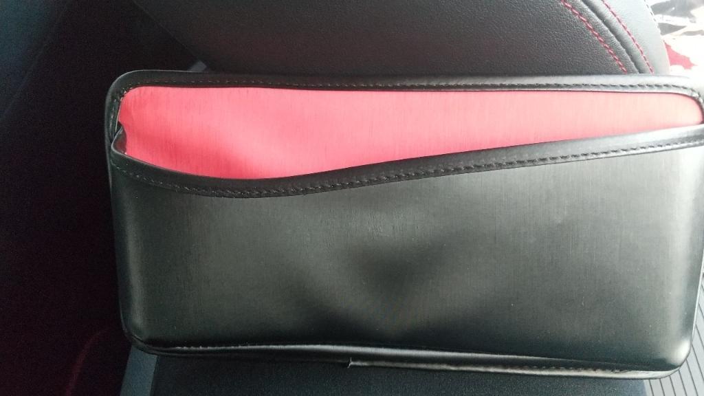 SEIWA W950 シートサイドポケット HILINE Black×Red