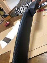 エキシージ割れた純正リップをラッピング カーボン調ラッピングの単体画像