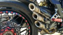 ブルターレ800ドラッグスターRRsilmotor Exhaust Silencer Titan Snake Designの単体画像