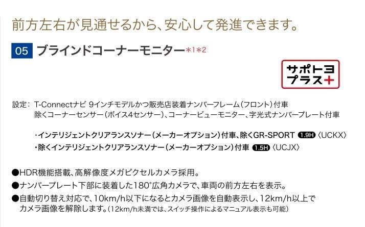 トヨタ(純正) ブラインドコーナーモニター