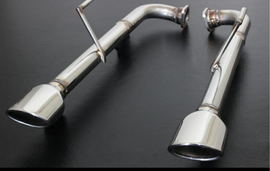 スリーキャッツ / SENSE リアピース110Φオーバル ストレート マフラー オールステンレス製