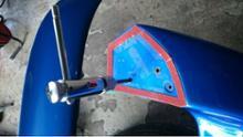 インプレッサ スポーツワゴン WRXDOLPHIN REAR WINGの全体画像