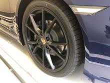 718 ボクスターPORSCHE純正 20inch Carrera S サテンブラックの単体画像