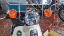 スーパーカブ90DX田中商会 マルチリフレクターヘッドライトレンズの全体画像