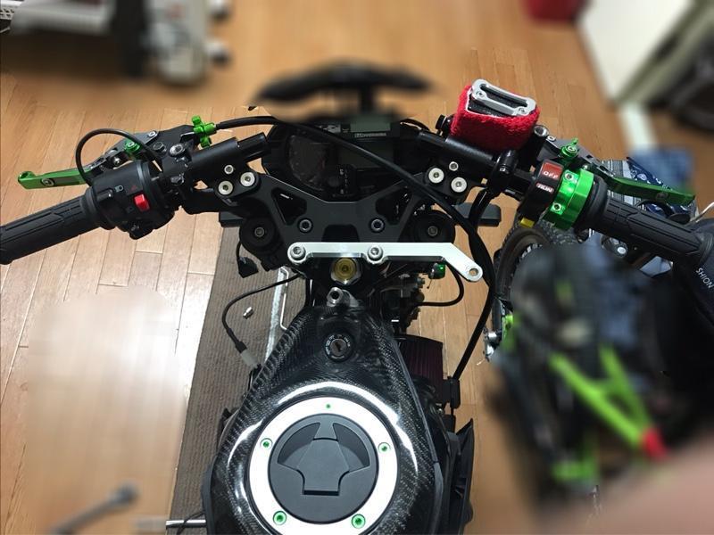 ヤフオク Z125PRO専用アルミセパレートハンドル取り付けなど