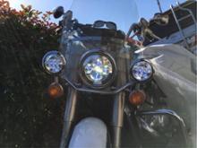 ロイヤルスターSILIVN ハーレーダビッドソン用 7インチ ハーレー LEDヘッドライト 4.5インチ ハーレー フォグランプ Lの全体画像