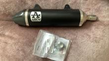 """SX125ARROW Thunder aluminium """"Dark"""" silencer with carby end capの全体画像"""