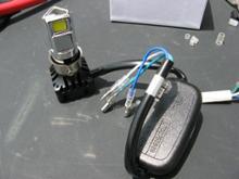XR50 モタードRTD LEDヘッドライトの単体画像