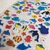 DAISO 海の生き物シール(厚手)