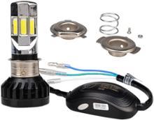 NAVI110FBK LEDバルブ 汎用 純正交換用 DC&AC 9-32V 直流交流兼用バイクLEDヘッドライト 35W 6500K ホワイト 6面発光 爆光 冷却ファン搭載 1個入りの単体画像